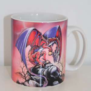 Fantasy Dragon Mug available in Blue or Red